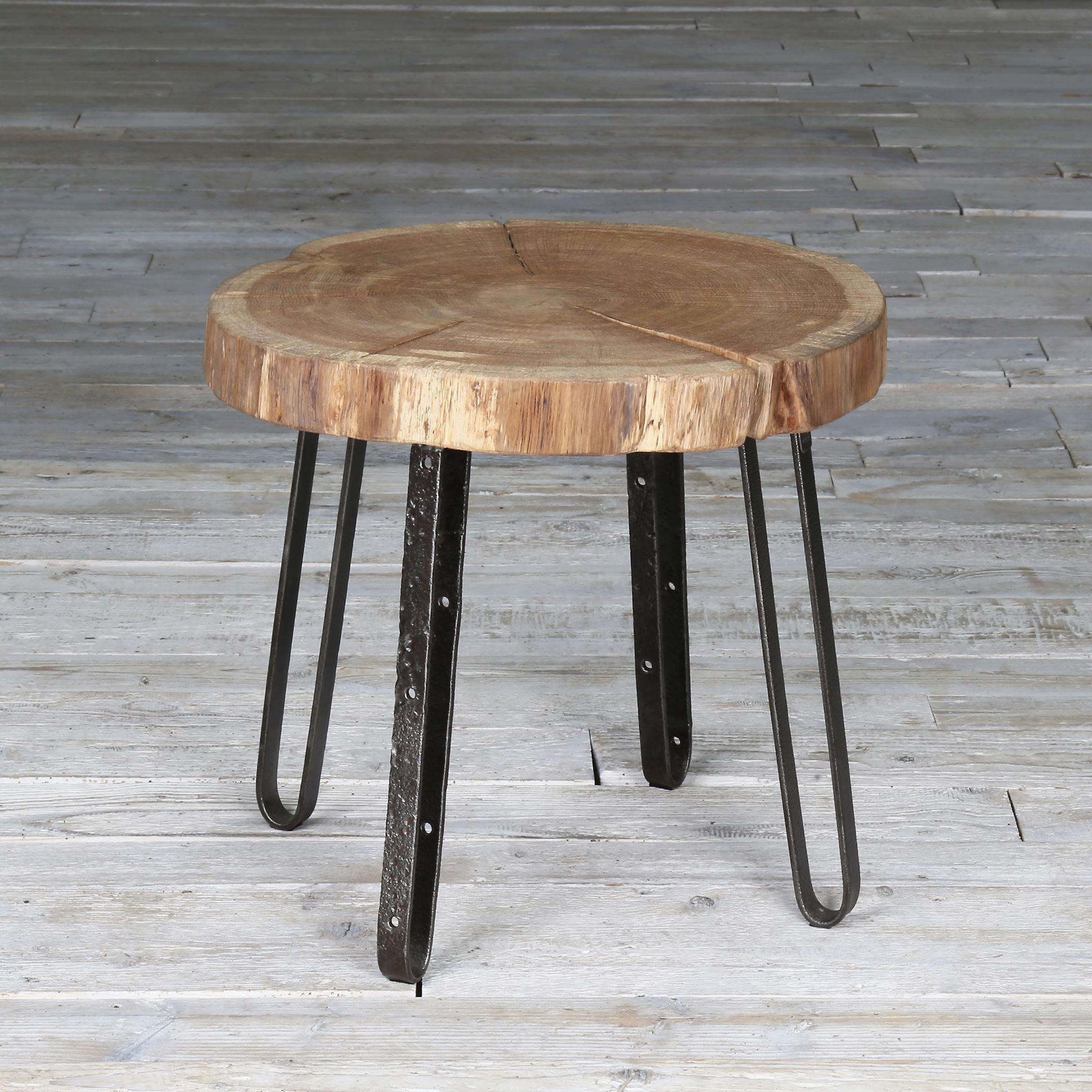 Okrągły stolik kawowy - stary dąb