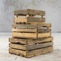 Komplet drewnianych skrzynek ażurowych - 3