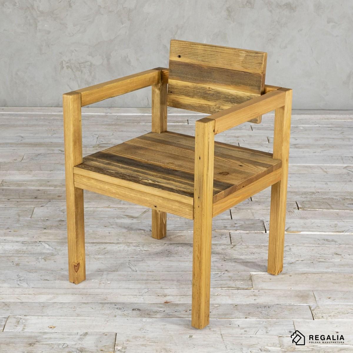 Krzesło ze starego drewna NO. 398 - stre dechy