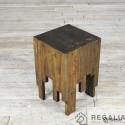 Recyklingowy stołek ze starych desek No. 160 - szary