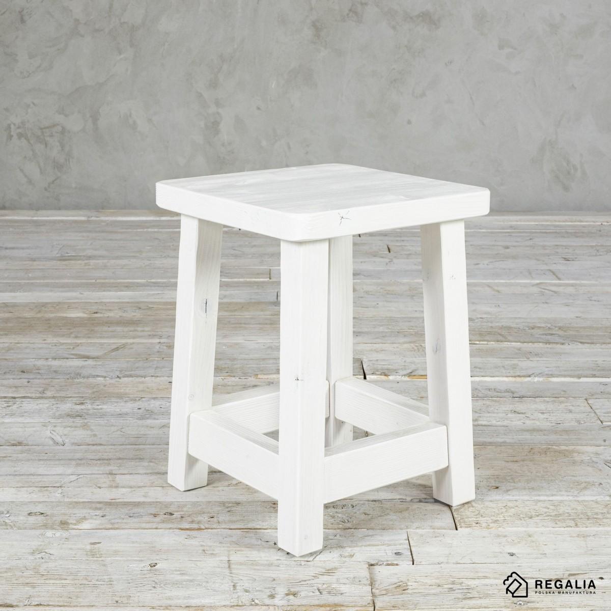 Krzesełko z rdzenia starych belek No. 418 - mocno bielone